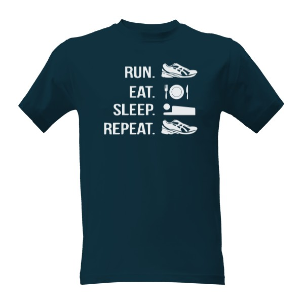 Tričko s potiskem Run eat sleep repeat